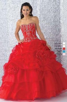 vestidos de 15 años color rojo bellos