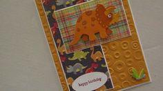 Dinosaur Birthday Card for Boys embossed by koensmir on Etsy