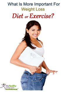 What is more important for weight loss. Share you views with us. For more #diet and #weightloss help, visit http://www.myhealthylivingcoach.com/category/weight-loss/