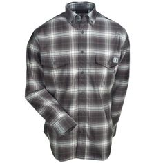 Wolverine Clothing Men's W1203330 010 Flame-Resistant Plaid Shirt