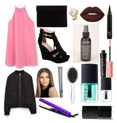 """""""night out"""" by daisywolfe on Polyvore featuring MANGO, Benefit, Lime Crime, Roman, New Look, NYX, NARS Cosmetics, Zara and fun"""