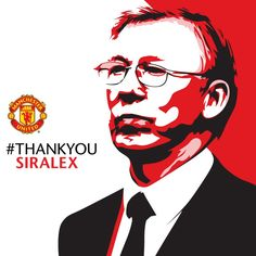Sir Alex Ferguson the legend... #thankyousiralex