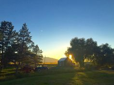 iPhone snap of this farm in the shadow of the Wallowa Mountains. #mightycreator #wallowamountains #farmlife #northeastoregon #sunset