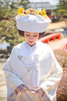 日本だからこそ叶う♡ 憧れの《日本髪 × 角隠し》で撮影をした素敵ショット*全30枚   ZQN♡