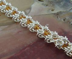 """""""Butterfly Wings"""" Chainmaille Bracelet by The ChainMaille Lady, via Flickr"""