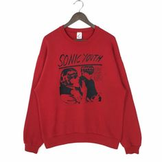 Vintage 90s Sonic Youth Sweatshirt Sonic Youth Goo!! Sweatshirt Crewneck Sonic Youth Goo 1990 by DGC Records Sonic Youth Vintage Sweatshirt Crew Neck Sweatshirt, Graphic Sweatshirt, Vintage Band Tees, Nike Pullover, Cute Sweaters, Hippie Style, Youth, Sweatshirts, How To Wear