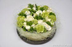 bloementaart-witgroen - Flowerarrangement