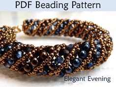 Jewelry Beading Pattern Tutorials Netted by SimpleBeadPatterns. , via Etsy.
