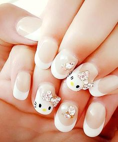 Inspiring Oval Nail Art Ideas Oval nail style, which comes with a rounded top, is perhaps the easiest pick for the long nails enthusiasts. Winter Nails, Spring Nails, Summer Nails, Oval Nail Art, Oval Nails, Nail Designs Pictures, Nail Art Designs, Romantic Nature, Nail Trends