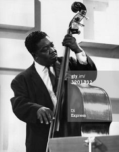 Jazz bassist Ernie Shepard plays the double bass in a television recording session with the Duke Ellington Orchestra, at the start of their British tour, England. Jazz Blues, Blues Music, Duke Ellington, All That Jazz, Double Bass, Jazz Musicians, Audiophile, Orchestra, Plays
