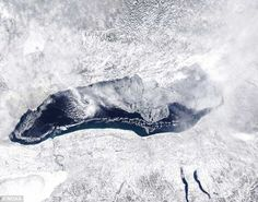 Record freeze on Lake Ontario as 4,700 square miles of ice forms on Great Lakes IN ONE NIGHT