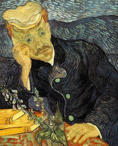 Vincent Van Gogh - Portrait of Dr. Gachet, oil on canvas, private collection. Paul Gachet was the dr. Who took care of Van Gogh the last years of his life. Van Gogh Pinturas, Jackson Pollock, Gustav Klimt, Van Gogh Arte, Städel Museum, Museum Shop, Most Expensive Painting, Expensive Art, Van Gogh Portraits