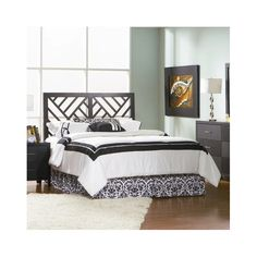 The Bowne Panel Headboard is perfectly suited for beds that are full or queen sized. This headboard has a solid wood construction and it is sturdy, which ensures that it will last for a long time. It sports an elegant black finish that is aesthetically appealing. The Bowne Panel Headboard from Varick Gallery features striped diagonal cutouts that imitate a zebras striped. The headboard can be paired with similarly styled furniture or a footboard to create a matching theme. Easy to care for…