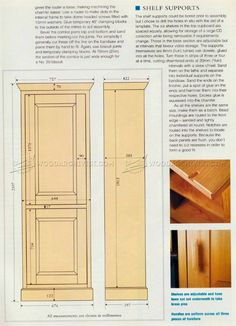 Tall Cabinet Plans - Furniture Plans and Projects | WoodArchivist ...