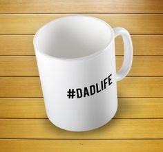 Hashtag Dadlife Mug #dadlifemug #hashtaddadlife #mugs #mug #whitemug #drinkware #drink&barware #coffeemug #teamug #kitchen&dining #giftmugs #cup #home&living #funnymugs #funnycoffecup #funnygifts