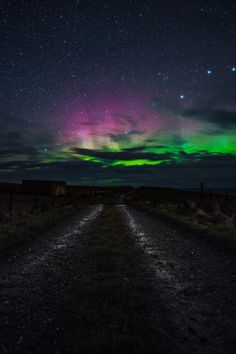 The Northern Lights captured in Donegal , Ireland