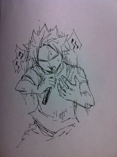 Hiro mashima Twitter<<<CAN NATSU SING?!!! Wonder how good he is or is it like Gajeel.