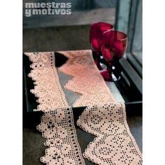 Muestras y Motivos os anima a realizar estas hermosas puntillas tejidas a crochet.  #muestrasymotivos #puntillas #crochet