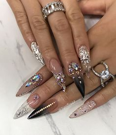 We have collected 130 + elegant Rhinestones coffin nails for you. Enjoy these beautiful nail art and welcome your Inspiration erupted! Rhinestone Nails, Bling Nails, Stiletto Nails, Swag Nails, Coffin Nails, Rhinestone Nail Designs, Nail Crystal Designs, Best Acrylic Nails, Acrylic Nail Designs