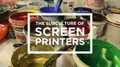 Screen Printers in Los Angeles, via YouTube.