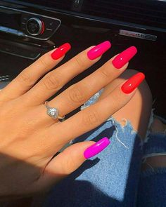 50 Beautiful Nail Art Designs & Ideas Nails have for long been a vital measurement of beauty and Wedding Acrylic Nails, Purple Acrylic Nails, Summer Acrylic Nails, Best Acrylic Nails, Spring Nails, Summer Nails, Acylic Nails, Fire Nails, Minimalist Nails
