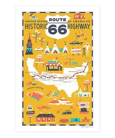 Look at this #zulilyfind! Route 66 Dish Towel #zulilyfinds Love this! Wish it was a poster!