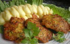 Kuřecí kari placičky s cuketou | NejRecept.cz Meatloaf, Tandoori Chicken, Baked Potato, Recipies, Curry, Potatoes, Baking, Ethnic Recipes, Recipes