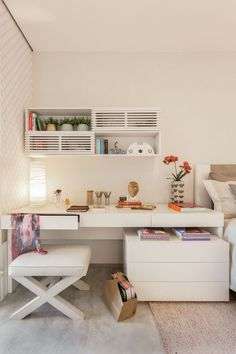 Top 10 Stunning Home Office Design - Site Home Design Home Office Design, Home Office Decor, House Design, Office Designs, Office Style, Bedroom Desk, Home Bedroom, Bedrooms, Wc Decoration