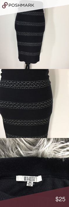 BB Dakota Knit Pencil Skirt