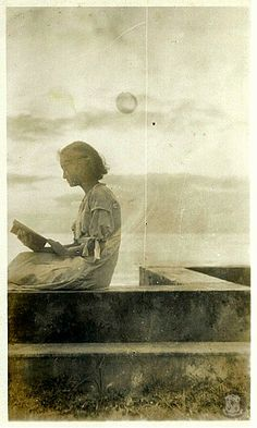 """Maria Aurora """"Baby"""" Quezon, reading.      Her father, President Manuel L. Quezon, was known as a voracious reader. To him, """"our lives become lifted up by the galvanizing contact with the best minds produced by the human race."""""""