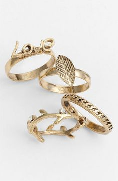 Carole Stackable Ring Set (Online Exclusive) | Nordstrom