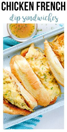 I love me a good french dip sandwich, but especially this chicken recipe!! It is so easy to make, and a simple freezer meal the whole family will love! #easy #easyfreezermeals #makeahead #freezerfriendly | happymoneysaver.com Vegetarian Freezer Meals, Chicken Freezer Meals, Freezer Friendly Meals, Slow Cooked Chicken, Healthy Freezer Meals, Make Ahead Meals, How To Cook Chicken, No Dairy Recipes, Foods With Gluten