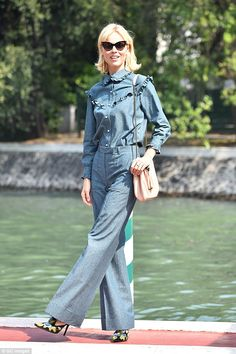 Supermodel style: Eva Herzigova surpassed herself in the style stakes as…