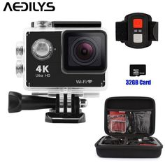 AKEDRE 4K WIFI Sports Action Camera 2.0 Inch LCD Screen Action Camera Waterproof 30M Sports Action Camera 16MP 170 Degree Wide Angle Lens 2.4G Wireless Remote Control  32GB Card  Carrying Bag-Black >>> Be sure to check out this awesome product. (This is an Amazon Affiliate link and I receive a commission for the sales)