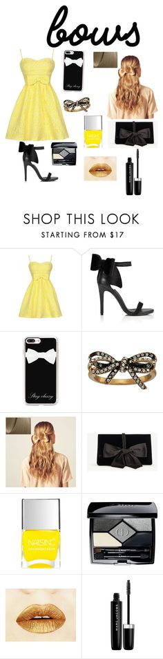 """""""Untitled #3"""" by maceysthestore ❤ liked on Polyvore featuring Miss Selfridge, Casetify, Marc Jacobs, Hershesons, Ann Taylor, Nails Inc. and Christian Dior"""
