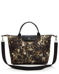 cb451be982 Longchamp Medium Le Pliage Neo Fantaisie Satchel Camo Bag, Longchamp, Camo  Print, Satchel