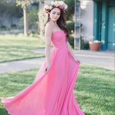Don't be afraid of a Punch of color! 👊 Style 1504 in Punch 😜 Pink Bridesmaid Dresses Short, Bridesmaid Dress Colors, Wedding Dresses, Bridesmaids, Pink Gowns, Pink Dress, Boho Wedding, Summer Wedding, Wedding Colors