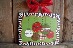 Personalized Christmas Canvas | Christmas Ornament Canvas Personalized by ... | Christmas