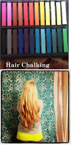 Hair Chalking...gonna try it today and let you know how it goes :)