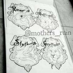 Image result for harry potter neo traditional tattoo