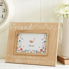Natural Wooden Family Frame - Friend