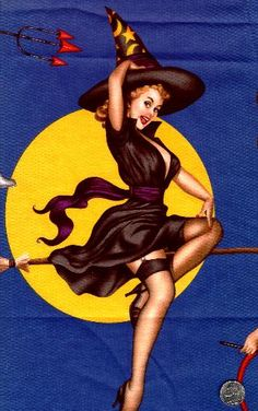Witchy pin-up