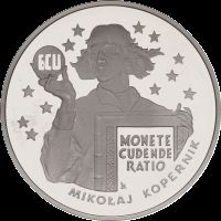 Mikołaj Kopernik - ECU wizerunek rewersu