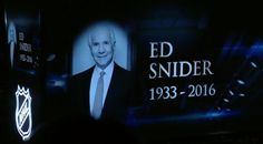 The Tampa Bay Lightning honored Ed Snider with a moment of silence