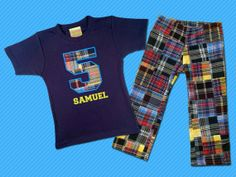 Birthday Boy's Number Top with Name and Matching by SunbeamRoad, $42.50