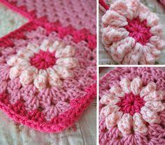 tillie tulip - a handmade mishmosh: New pink flower blanket