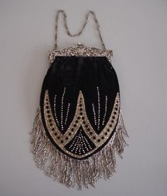 French art deco beaded purse