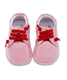 Pink Leather Shoes - Infant & Toddler by Jack & Lily Shoes