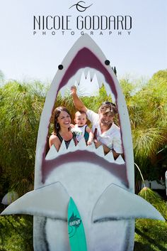Under the Sea theme Party: Shark Photo Booth
