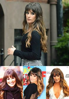i'm thinking about making a change... looking for inspiration... Lea Michele Ombre Hair Style